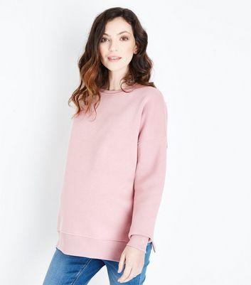 Maternity Pink Side Split Sweatshirt New Look