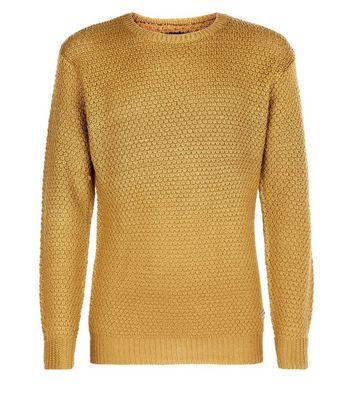 Mustard Honeycomb Knit Jumper New Look