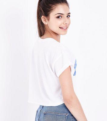 Teens White Fanta Logo Print T-Shirt New Look