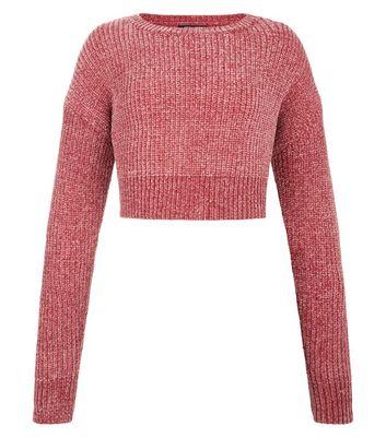 Teens Pink Chenille Jumper New Look