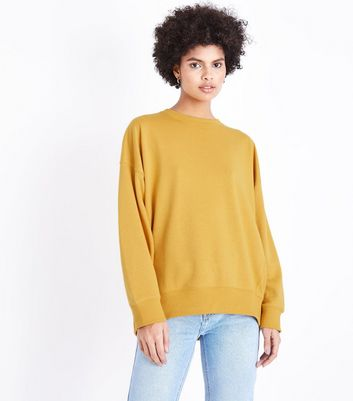 Mustard Yellow Balloon Sleeve Sweatshirt New Look