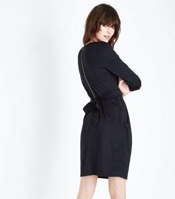 Black Double Pocket Tulip Dress New Look
