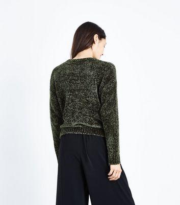 Khaki Chenille Jumper New Look