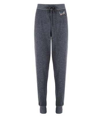 Dark Grey Hey Girl You Goat This Joggers New Look