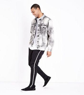 Black Side Stripe Joggers New Look