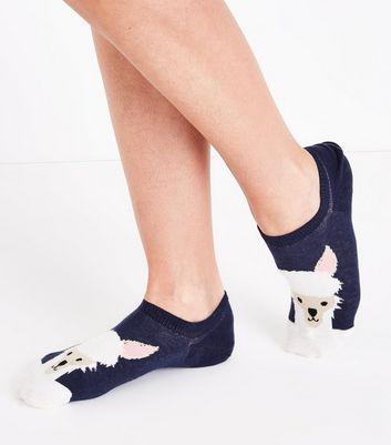 Navy Llama Toe Ankle Socks New Look