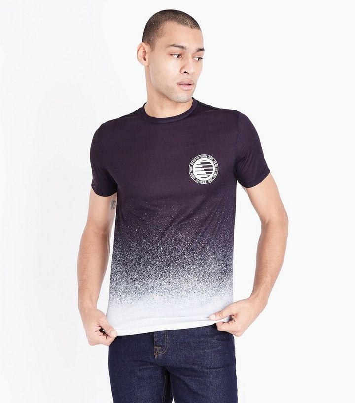 82fba722 Black Spray Wash Muscle Fit T-Shirt | New Look