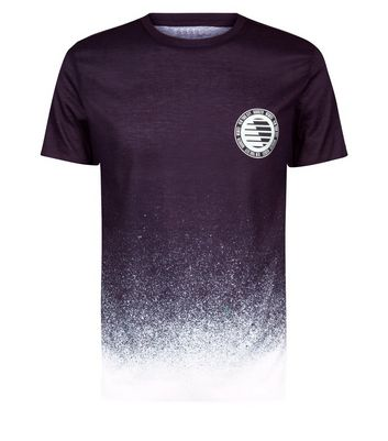 Black Spray Wash Muscle Fit T-Shirt New Look