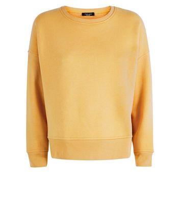 Petite Mustard Yellow Side Split Sweatshirt New Look