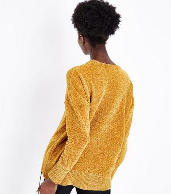 Mustard Yellow Chenille Oversized Jumper New Look