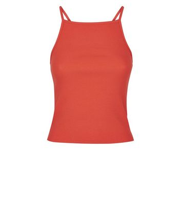 Orange Square Neck Cami New Look