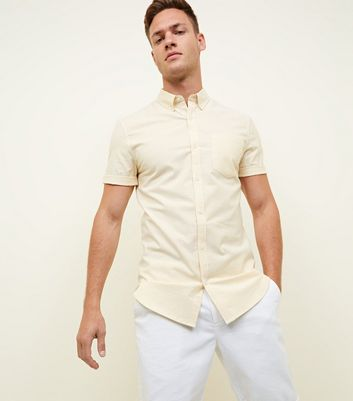 Yellow Stripe Muscle Fit Oxford Shirt