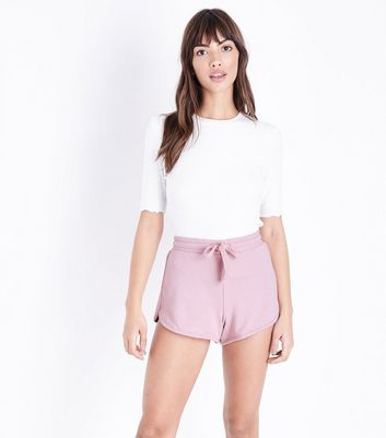 Pale Pink Jersey Runner Shorts