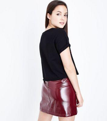 Teens Black Brklyn NY Logo Front T-Shirt New Look