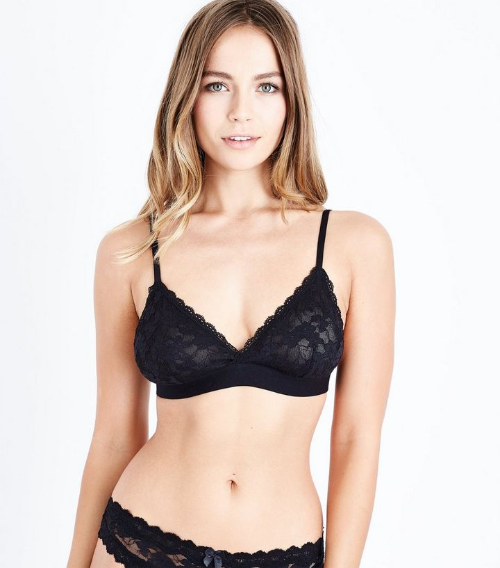 556a335c63e146 Black Lace Bralette