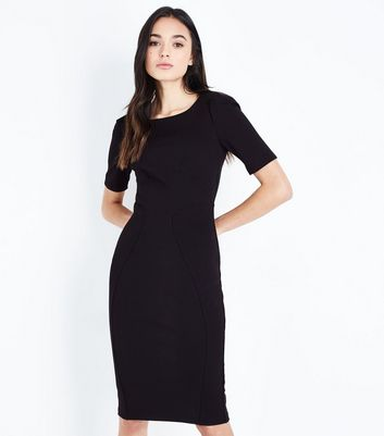 Apricot Black Bodycon Midi Dress New Look