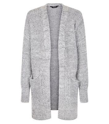Teens Grey Pocket Front Longline Cardigan New Look