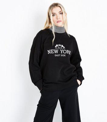 Tall Black New York East Side Print Sweatshirt New Look
