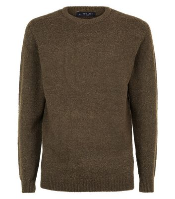 Khaki Boucle Jumper New Look