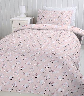 ... Pink Llama Print Cotton Single Duvet Set ...