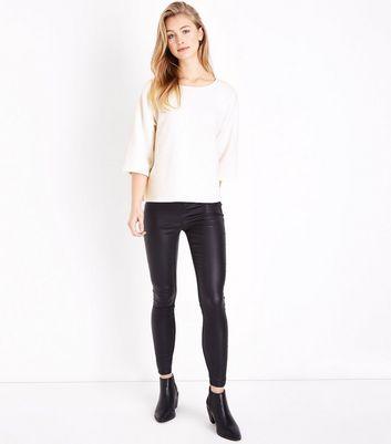 White Half Sleeve T-Shirt New Look