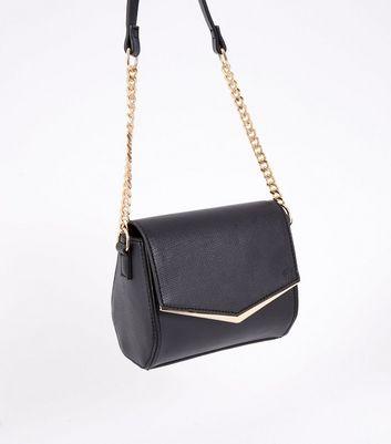 Black V Front Micro Shoulder Bag New Look