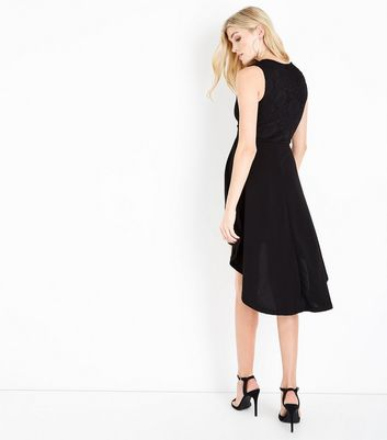 Mela Black Lace Zip Front Dress New Look