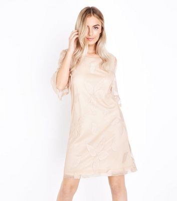 Mela Stone Leaf Embossed Dress