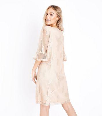 Mela Stone Leaf Embossed Dress New Look