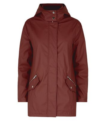 Rust Matte Anorak New Look