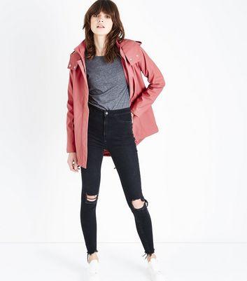 Deep Pink Matte Anorak New Look