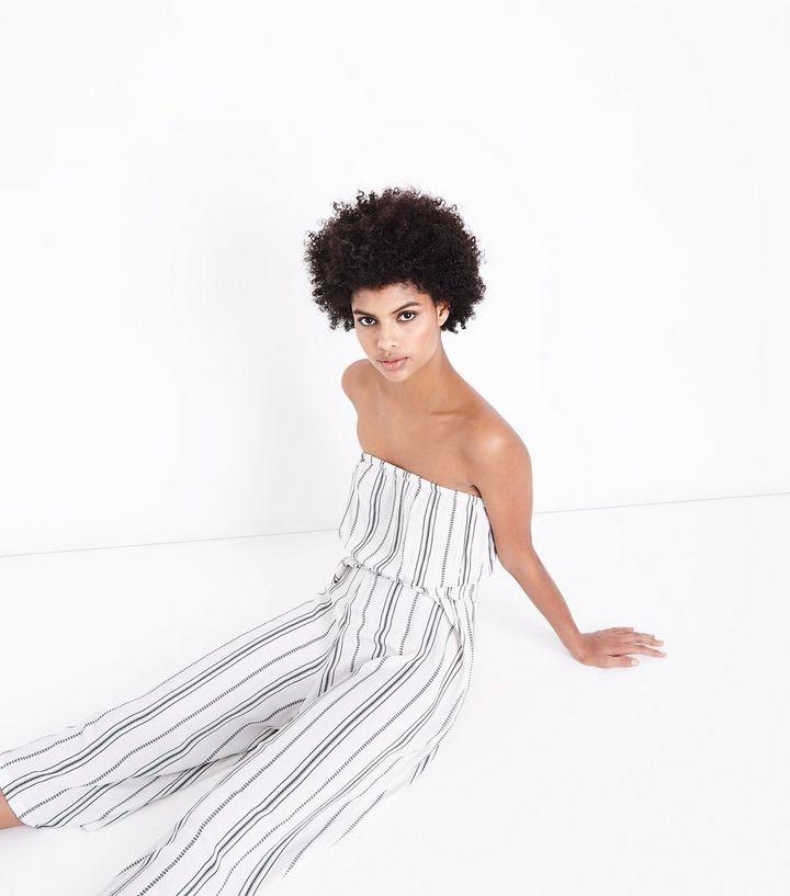 2c270e73ef57 ... Off White Stripe Bandeau Culotte Jumpsuit. ×. ×. ×. Shop the look