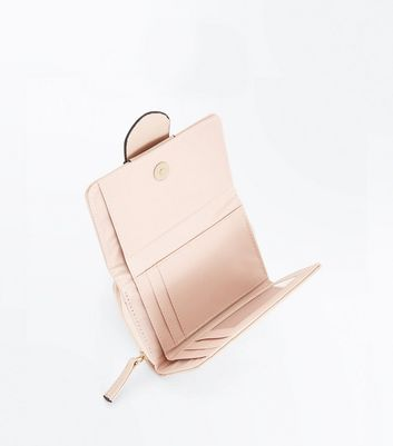 Nude Buckle Front Purse New Look