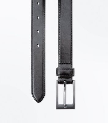 Black Leather-Look Formal Belt