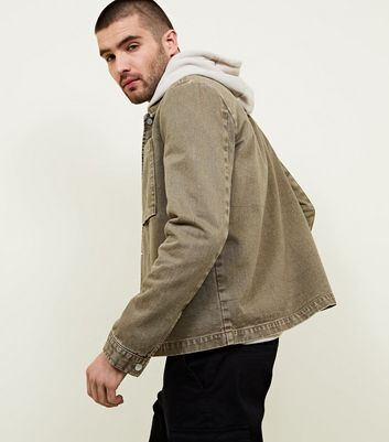 Khaki Popper Front Shacket
