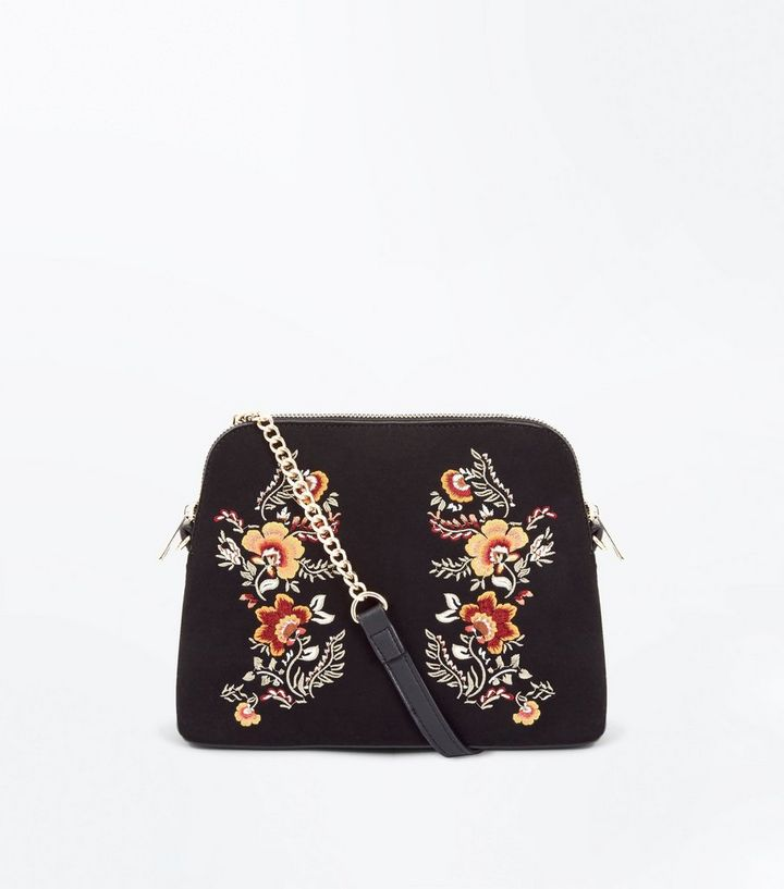 new product famous designer brand attractive designs Black Embroidered Cross Body Bag Add to Saved Items Remove from Saved Items