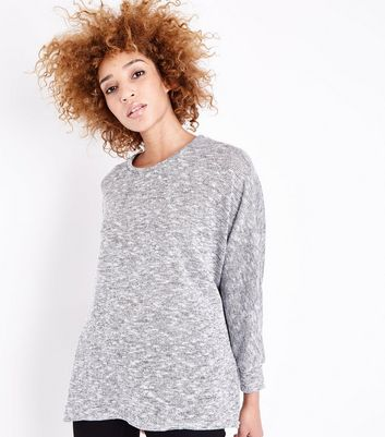 Grey Batwing Jumper New Look