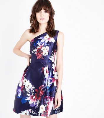 Blue Vanilla Navy One Shoulder Dress