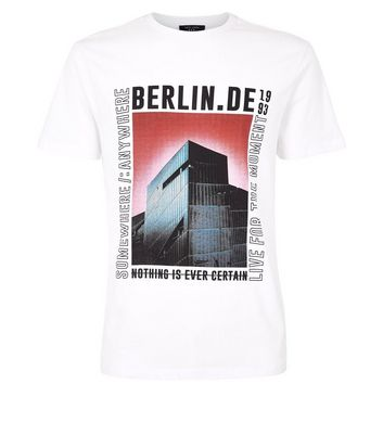 White Berlin Slogan Graphic T-Shirt New Look