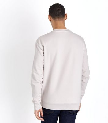 Pale Grey Brooklyn Embroidered Sweatshirt New Look