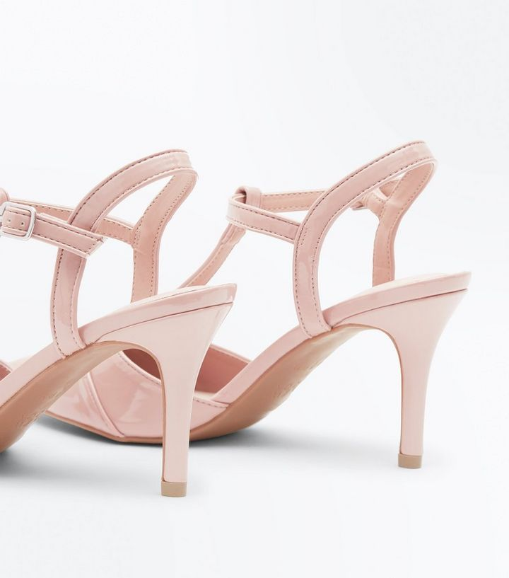 b74269bfa ... Nude Patent Panelled T-Bar Pointed Heels. ×. ×. ×. Shop the look