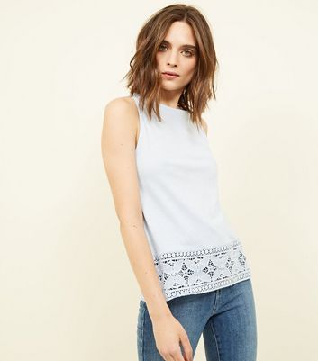 pale-blue-crochet-trim-vest-top by new-look