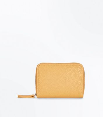 Mustard Yellow Zip Around Card Holder