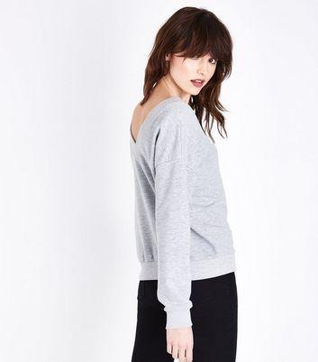 Grey Marl V Neck Sweatshirt New Look