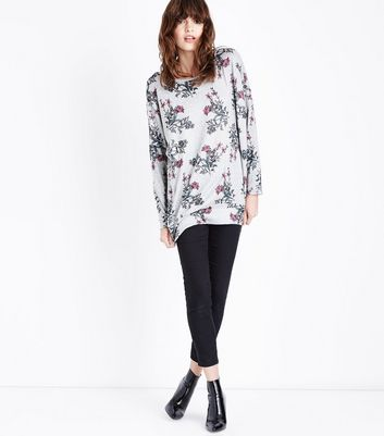 Apricot Stone Floral Print Oversized Top New Look