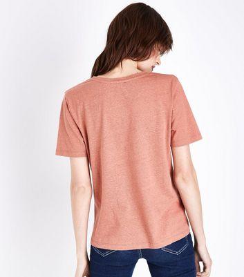 Rust Sunset Chasin' Slogan T-Shirt New Look