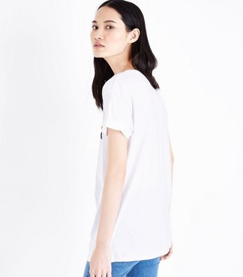 White Hogwarts T-Shirt New Look
