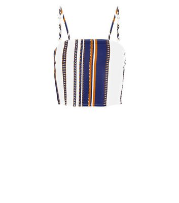 Parisian White Stripe Top New Look