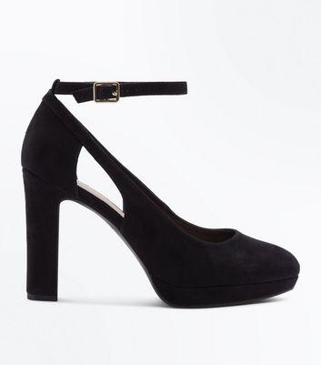 Chaussures Fit découpes talons à noires formes New à plates Wide gfPx1wg