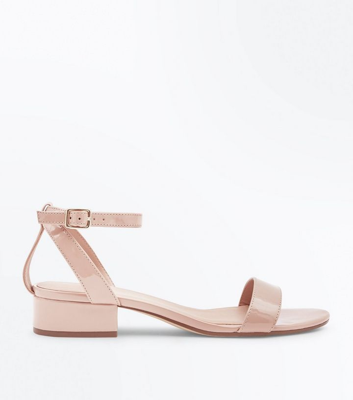 789158db0af Nude Patent Low Block Heel Sandals Add to Saved Items Remove from Saved  Items